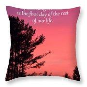 Daily Reminder Throw Pillow