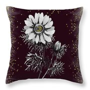 Daisy Sparkle Throw Pillow