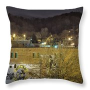 Dale Earnhardt Mural And Christmas Star Throw Pillow
