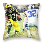 Dallas Cowboys Against Green Bay Packers. Throw Pillow