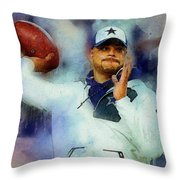 Dallas Cowboys.dak Prescott. Throw Pillow