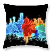 Dallas Neon Color Blast Throw Pillow