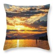 Dalton Point Sunrise Throw Pillow
