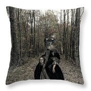 Damsel Of The Forest Throw Pillow