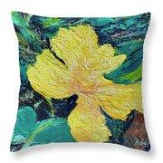 Dancing Flower Throw Pillow