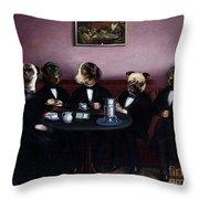 Dapper Dogs Throw Pillow