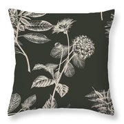 Dark Botanics  Throw Pillow