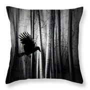Darker - Raven Throw Pillow