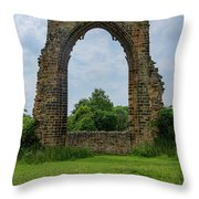 Darley Dale Abbey  Throw Pillow