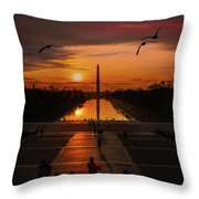 Dc Sunrise Throw Pillow