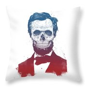 Dead Lincoln Throw Pillow