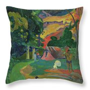 Death, Landscape With Peacocks, 1892 Throw Pillow