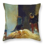 Death Of Imelda Lambertatstsi Throw Pillow