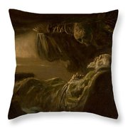 Death Of The Old Man Throw Pillow