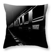 Death Railway Throw Pillow