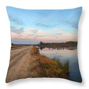 December Sunset At Whitesbog Nj Throw Pillow by Beth Sawickie
