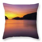 Deception Pass Sunset Serenity Throw Pillow
