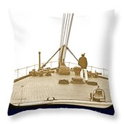 Deckhand, S.s. Phoenicia, Emigrant Ship, C. 1894 Throw Pillow