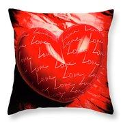 Decorated Romance Throw Pillow