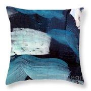 Deep Blue #3 Throw Pillow by Maria Langgle
