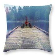 Deep Lake Dock  Throw Pillow