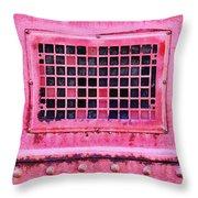 Deep Pink Train Engine Vent Throw Pillow