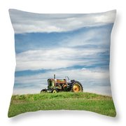 Deere On The Hill Throw Pillow