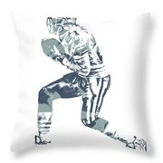 Deion Sanders Dallas Cowboys  Pixel Art 5 Throw Pillow