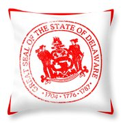 Delaware Seal Stamp Throw Pillow