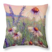 Delicate Daisies Throw Pillow