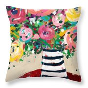 Delightful Bouquet 5- Art By Linda Woods Throw Pillow