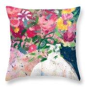 Delightful Bouquet- Art By Linda Woods Throw Pillow