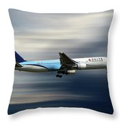 Delta Air Lines Boeing 767-332 Throw Pillow