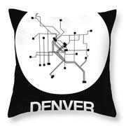 Denver White Subway Map Throw Pillow