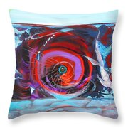 Depression And Me Two Fishes Throw Pillow