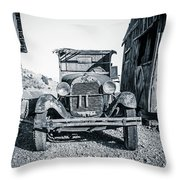 Depression Era Dust Bowl Car Throw Pillow