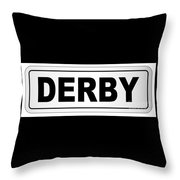 Derby City Nameplate Throw Pillow