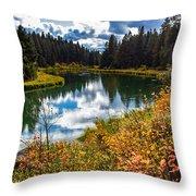 Deschutes River, Bend, Oregon Throw Pillow