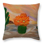 Desert Blooms Throw Pillow