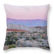 Desert On Fire No.1 Throw Pillow