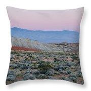 Desert On Fire No.2 Throw Pillow