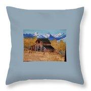 Deserted Barn Throw Pillow