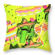 Desertly Decorated Throw Pillow