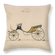 Design For Cabriolet Or Victoria, No. 3221 Brewster And Co. American, New York Throw Pillow