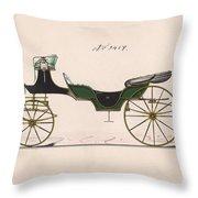 Design For Cabriolet Or Victoria, No. 3459  1875 Throw Pillow
