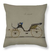 Design For Cabriolet Or Victoria, No. 3558  1879 Throw Pillow