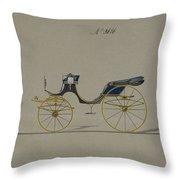 Design For Cabriolet Or Victoria, No. 3696 Throw Pillow