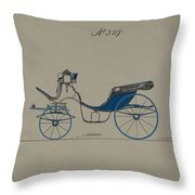 Design For Cabriolet Or Victoria, No. 3719 Brewster And Co. American, New York Throw Pillow