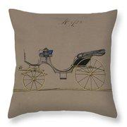 Design For Cabriolet Or Victoria, No. 3723  1881 Throw Pillow