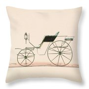Design For Driving Or Road Phaeton Unnumbered Brewster And Co. American, New York Throw Pillow